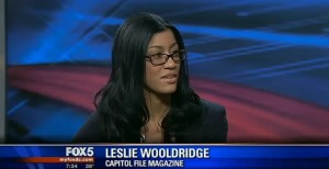 Leslie Quander Wooldridge on Fox 5 news for inauguration coverage (DC)