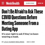 Tips for Dating During This Pandemic: What to Know Right Now